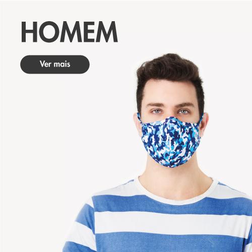 homem de colecção de máscaras-higiénicas
